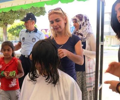 Iğdır'da 1176 öğrenciye saç bakımı