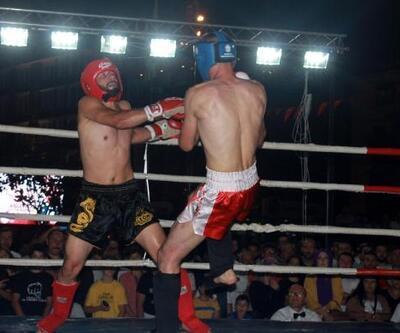 Giresun'da kick boks heyecanı