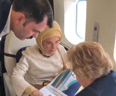 Emine Erdoğan, Salda Gölü'nü hem havadan hem karadan inceledi