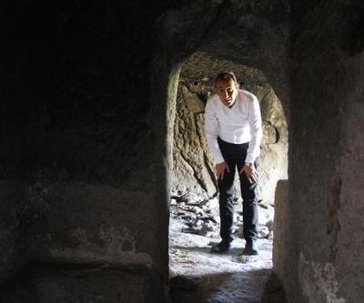 Üzüm hasadı yaparken yeraltı şehri buldular