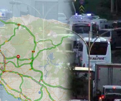 İstanbul trafik haritası | Son dakika: TEM kilit, trafik durma noktasına geldi