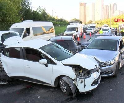 Son dakika... TEM'de 7 aracın karıştığı zincirleme kaza