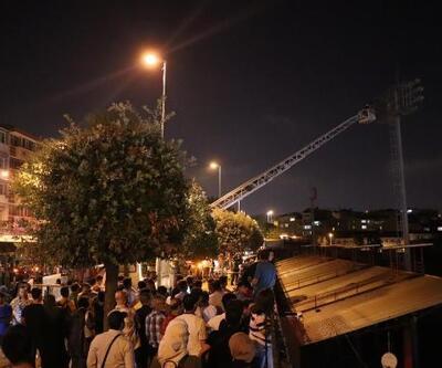 Karagümrük Stadı'nın aydınlatma direğinde intihar girişimi