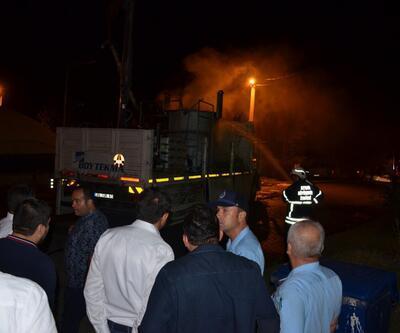 Boya yüklü kamyonda patlama: 5 kişi yaralandı