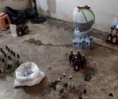 45 litrelik sahte içki operasyonu