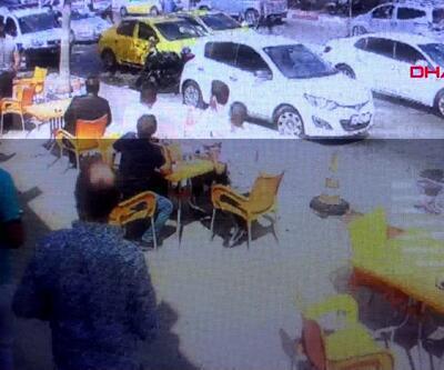 Kartal'da silahlı saldırı anı kamerada