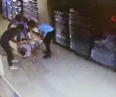 Servis sürücüsünü sopayla dövdüler