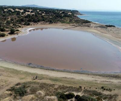 Pembe gölün renk değiştirmesi bekleniyor