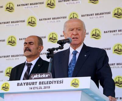 MHP lideri Bahçeli Bayburt'ta: Sıra Fırat'ın doğusuna gelmiştir
