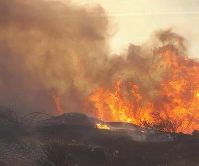 Makilik alandaki yangın mahalleyi dumanla kapladı