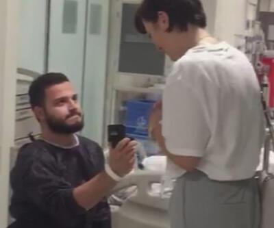 Kalp ameliyatına girmeden evlilik teklif etti