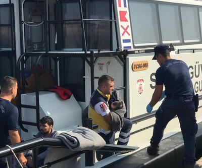 39 düzensiz göçmen batan bottan kurtarıldı