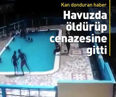 Havuzda boğarak öldürüp cenazesine gitti
