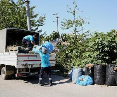 Nilüfer'da budama atıkları yeniden toprağa kazandırılıyor