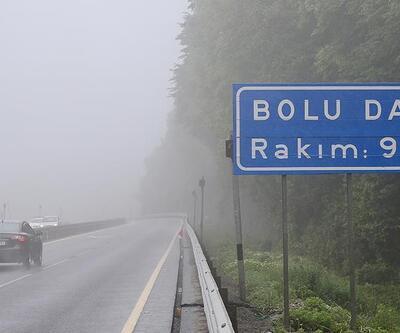 Bolu Dağı'nda sağanak ve sis etkili