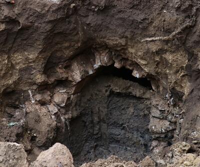 Apartmanın altında Osmanlı tüneli bulundu