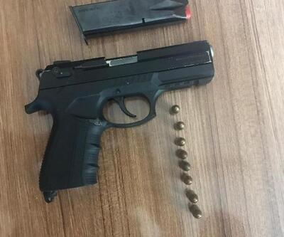 Polis şüphelendi, üzerinde silahla yakalandı