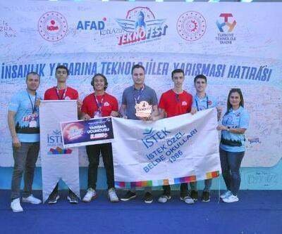 Lise öğrencilerinin projesi TEKNOFEST'TE Türkiye 3'üncüsü oldu