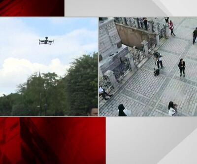 """İstanbul'da polisten """"drone""""lu takip"""