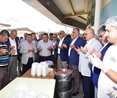 Başkan Ergün, şoförlerin aşure hayrına katıldı