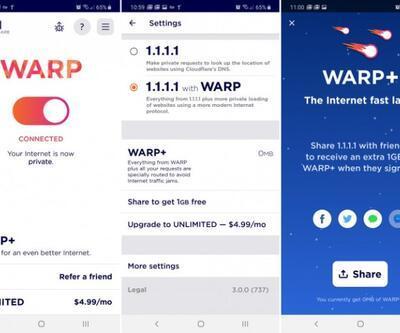 Cloudflare WARP VPN mobil kullanıcılarının beğenisine sunuldu
