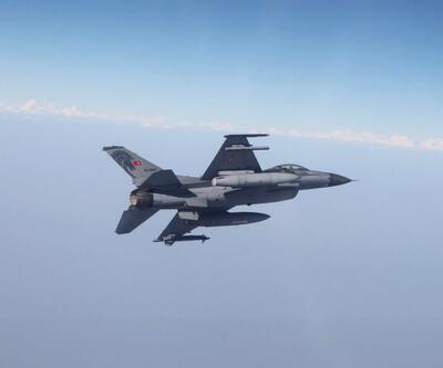 Milli Savunma Bakanlığı duyurdu! Türk F-16'lar Suriye hava sahasında uçtu