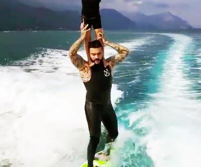 Timati, kızıyla dalga sörfü yaptı, milyonlar izledi