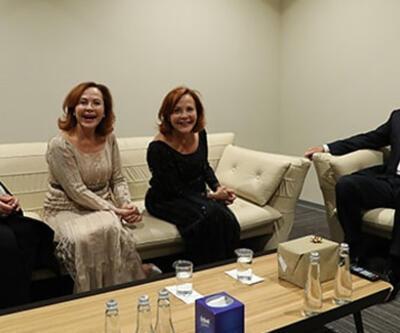 Cumhurbaşkanı Erdoğan, piyanist Pekinel kardeşlerle bir araya geldi