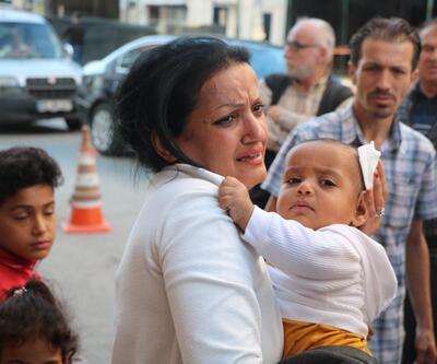 Samsun'da başına pencere düşen bebek yaralandı