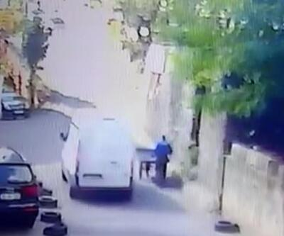 Ümraniye'de hurdacının feci ölümü kamerada