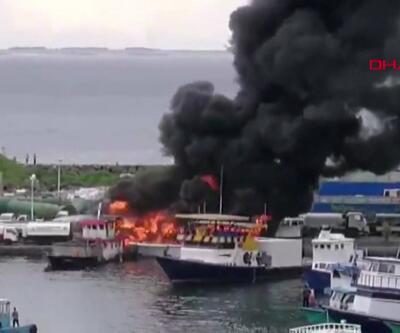 Tekneler alev topuna döndü