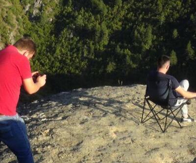 Ölüm riskine karşı telle çevrilen 'taş teras'a ziyaretçi akını