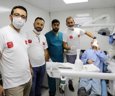 Türk doktorlar, Suriye'deki hastaların diş tedavisini yaptı