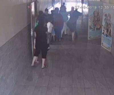 Mersin'de kadın öğretmene şiddet kamerada