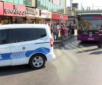 Halk otobüsünde hırsızlık alarmı