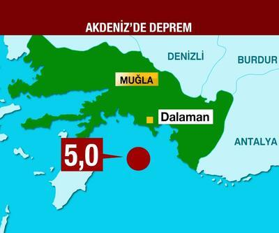 Son dakika... Akdeniz'de deprem!