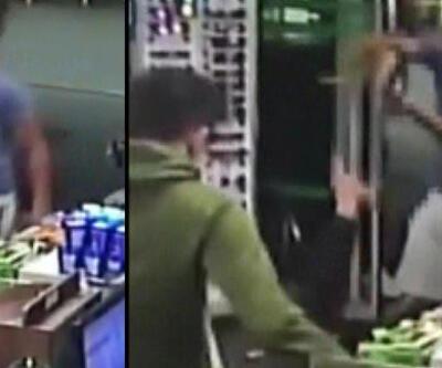 Trafikte başlayan silahlı kavga, markette son buldu