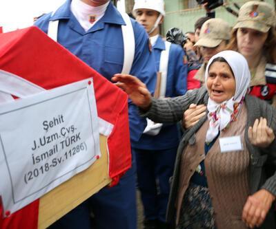 Şehit Uzman Çavuş İsmail Türk, son yolculuğuna uğurlandı