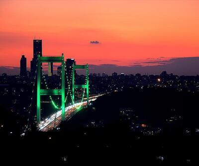 İstanbul yeşile büründü
