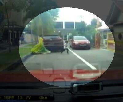 Üzerinden araç geçen çocuk yaralanmadı