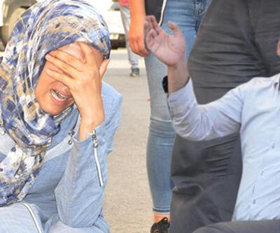 Diyarbakır'daki oturma eyleminde gerginlik... Savaş uçakları kalkınca aileler HDP'ye tepki gösterdi