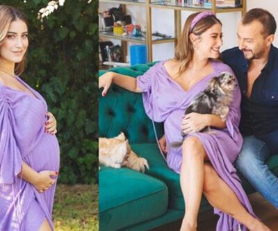8 aylık hamile olan Hazal Kaya, son haliyle dikkat çekti