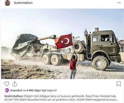 Ünlülerden 'Barış Pınarı Harekatı' paylaşımları