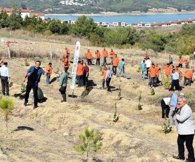 Adalet Ormanı'na anneler için 571 fidan dikildi