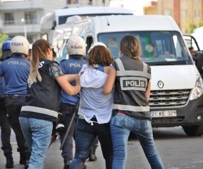 Diyarbakır'da HDP'lilerin izinsiz açıklamasına müdahale