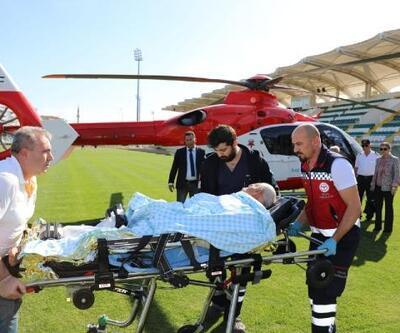 Pekmez kazanına düşerek yaralandı, ambulans helikopterle sevk edildi