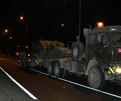 Suriye sınırına tank ve zırhlı araç sevkiyatı sürüyor