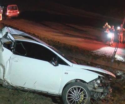 Otomobil 200 metrelik şarampole yuvarlandı! 2 ağır yaralı