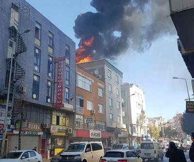 İstanbul Bağcılar'da korkutan yangın!
