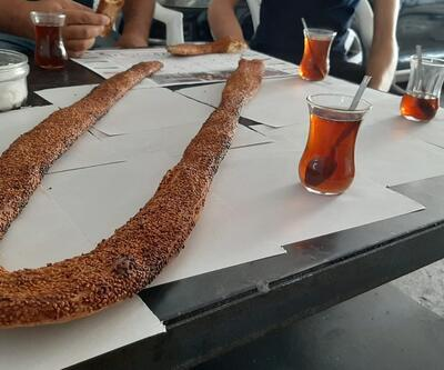 1 metre 25 santimlik simit